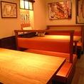 6名テーブルでゆっくり…。接待・食事会・ちょっとした飲み会におすすめです。