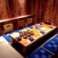 木を基調にした純和風の個室