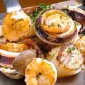 料理メニュー写真海鮮盛り合わせ焼き 醤油又はエスカルゴバター