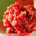 料理メニュー写真「塩ユッケ」 GINZA KOSOこだわりの逸品。