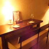 【カップルシート席2名×2】お二人の時間をお楽しみ頂きたい方におすすめのカップルシートです。デート、お誕生日、記念日に押すすめのお席です。