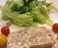 料理メニュー写真四元豚のパテ、サラダ添え