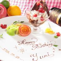 誕生日や記念日に…♪主役にデザートプレートプレゼント