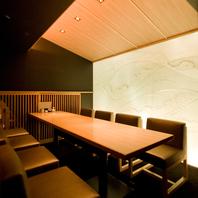 柔らかな光り輝く豪華な完全個室