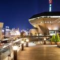 湊町一望の5階テラスは予約必至◎夏場や暖かい時期はテラスレストランとして大人気!湊町を独占したかのような気分になります!