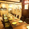 18名様程度のご宴会向きの個室。会社の歓迎会・送別会や各種ご宴会に!使い勝手の良い個室は大人気の為お早めにご予約ください。