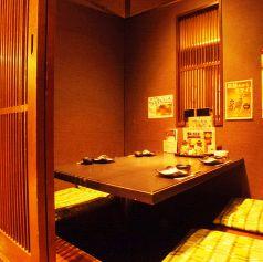 ゆっくりと落ち着いた雰囲気で会話や料理を楽しめる個室は接待などで活躍。周りの会話に邪魔されません。