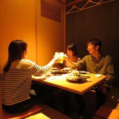 お友達同士の飲み会、お忍びデートに◎周りを気にすることなくお食事が楽しめる完全個室です