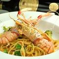 料理メニュー写真手長海老のトマトクリームパスタ