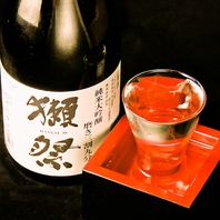 """""""獺祭""""含む日本酒も勢揃い!"""