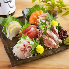 料理メニュー写真鮮魚5点盛り