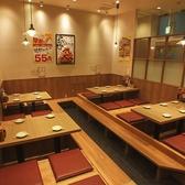 【所沢】人気の掘りごたつ席は4名様、6名様のお席をご用意しております。
