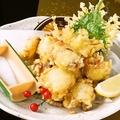 料理メニュー写真活タコの天ぷら
