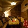 使い勝手抜群の8名様までのソファー個室♪高級感あるソファーが美味しい食事も演出します。