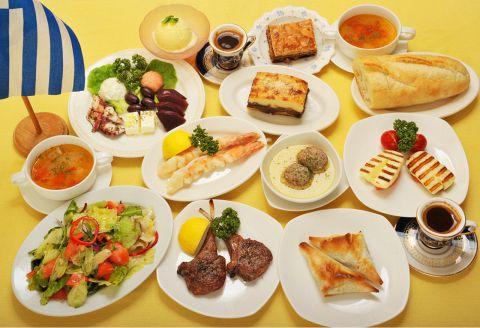 お酒を飲みながら、ギリシャ料理を味わい、楽しいひと時をお過ごし頂けます♪