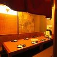 少し広めの個室は合コンに最適。周りを気にせず、盛り上がること間違いなし!お酒とお食事も進みます。