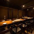12名様までの利用可能な宴会個室を完備しております。会社同僚の宴会や接待での人気が高く、くつろげると好評です。熟知したスタッフが丁寧にご対応させて頂きます♪