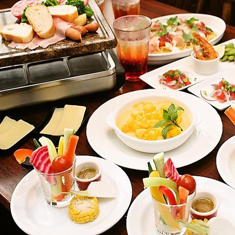 【夏宴会コース】【料理のみ】ラクレットチーズフォンデュコース 4500円
