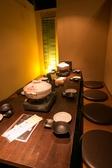 プライベートな宴会や合コン等にも使いやすい8~10名様個室、足を延ばして寛げます。