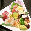 料理メニュー写真造り盛り合わせ(魚)3種盛
