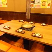 4名様~6名様まで使えるテーブル席もご用意しております☆