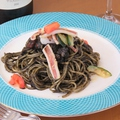 料理メニュー写真イカ墨のスパゲティ