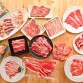 絶品のドルチェポルコ、黒毛牛霜降り肉、熟成サーロイン、鴨肉などこだわりのお肉を食べ放題でお楽しみいただけます!こだわり抜いた、妥協のない品質の食材をご堪能ください!