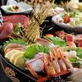 【会社宴会・打ち上げに!】銘柄鶏の逸品料理や豪華!海鮮舟盛り合わせ、季節の逸品料理が愉しめる宴会コースを多数ご用意しております。銘柄焼酎も含む飲み放題プランなどご予算・ご要望に合わせた宴会プランご用意しております。会社宴会・打ち上げにご利用下さい♪