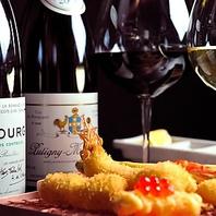 ソムリエが厳選したワイン多数ご用意しております