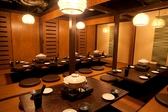 最大26名様個室は、更に扉を外すと40名様以上迄ひとつの空間で集める事が出来るので、歓送迎会や会社宴会に最適です。