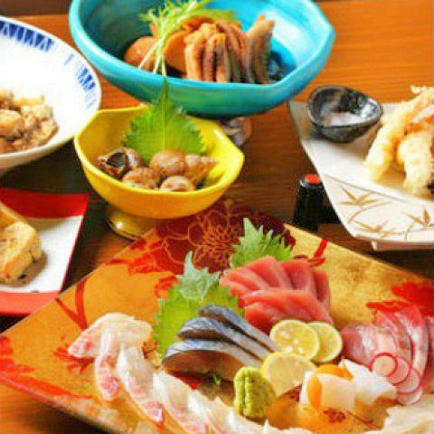 【90分飲み放題付き】お料理9品 6000円コース(税込)