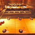 「宴会個室」最大36名様まで可能な掘りごたつ座敷