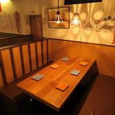女子会・誕生日会などのプライベートのシーンにもおすすめ♪半個室のお席となっております。
