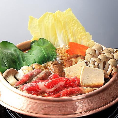 しゃぶしゃぶ/すき焼き<牛&豚>寿司・ドリンク・デザート90分食べ放題コース2380円(税抜)