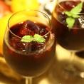自家製サングリア。お酒があまり飲めない方におすすめ!