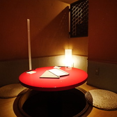 円卓を囲んで和食をお楽しみください。