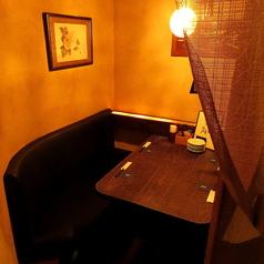半個室風の4名様テーブル席です。