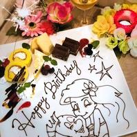 【キャラデコ】Anniversaryプレートサービス