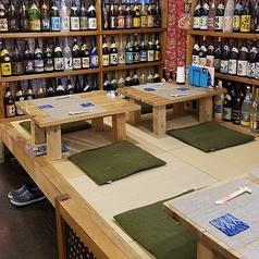 4名様までご利用頂ける座敷。もちろんこちらも琉球畳を使用しているので座り心地は抜群!!