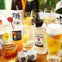 2時間ドリンク飲み放題1500円♪生ビール付1800円!