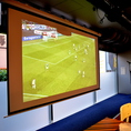 大型スクリーン完備!各種イベント、歓送迎会にぜひ☆スポーツ観戦もできます!