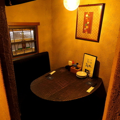 円型の2名様半個室です。