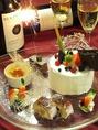 記念日やお祝いには豪華デザートプレート!!
