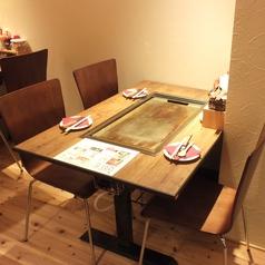 3名様用テーブル席は1卓のみ!