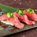 料理メニュー写真黒毛和牛の肉寿司 1貫よりご注文いただけます!
