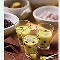 料理メニュー写真かぼちゃの冷製ココナッツ汁粉