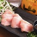 料理メニュー写真鶏生ハム炙り刺し
