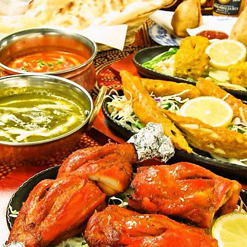 本格インド・ネパール料理!2時間食べ放題2,280円、2時間食べ飲み放題3,280円★