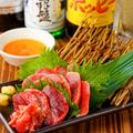 料理メニュー写真黒薩摩鶏砂ずり刺し