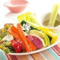 料理メニュー写真元気野菜 味噌バーニャソース